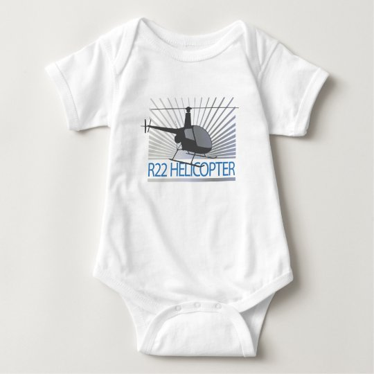 Helicopter Aircraft Baby Bodysuit