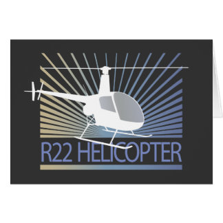 Helicopter Aircraft Greeting Cards