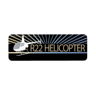 Helicopter Aircraft Labels