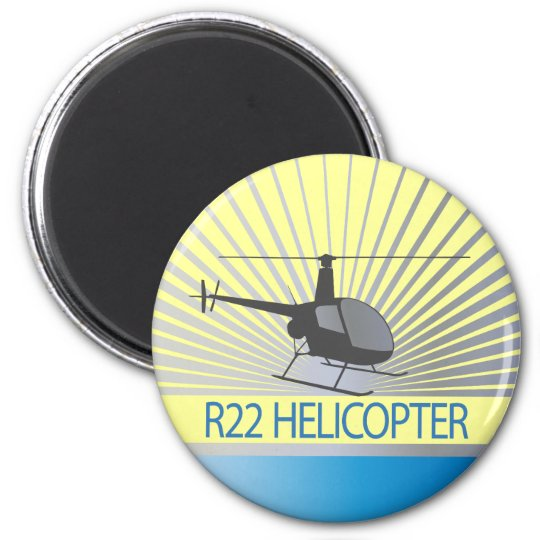 Helicopter Aircraft Magnet