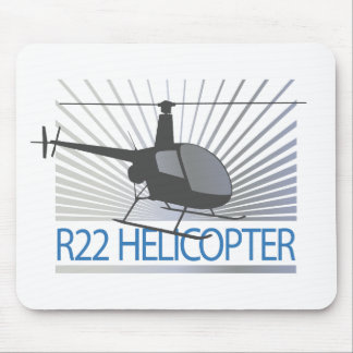 Helicopter Aircraft Mouse Pad