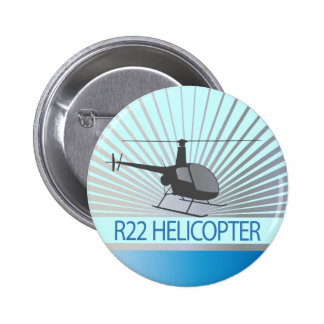 Helicopter Aircraft Pinback Button