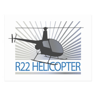 Helicopter Aircraft Postcard