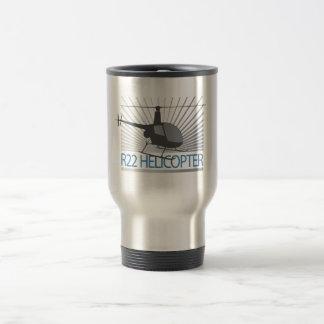 Helicopter Aircraft Travel Mug