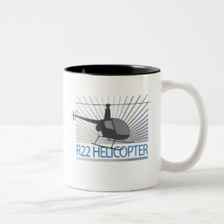 Helicopter Aircraft Two-Tone Coffee Mug