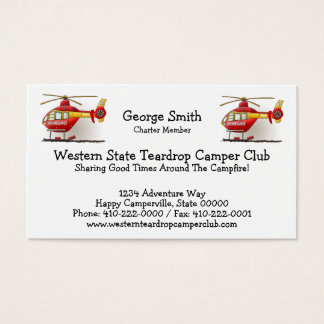 Helicopter Ambulance Business Card