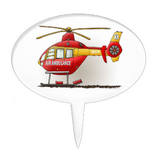 Helicopter Ambulance Cake Topper
