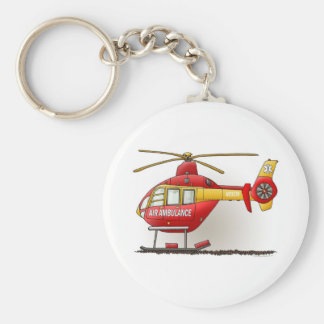 Helicopter Ambulance Keychain