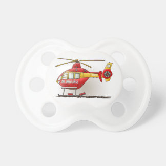 Helicopter Ambulance Baby Pacifier