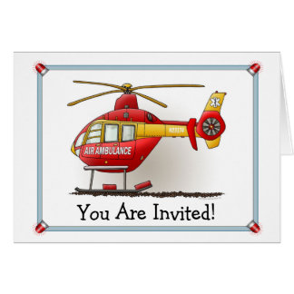 Helicopter Ambulance Party Invitation