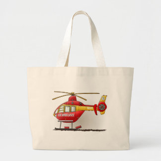 Helicopter Ambulance Tote Bag