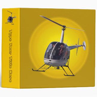 Helicopter Binder Cool Helicopter Book Binders Binders