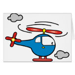 Helicopter Blue an Red Cards