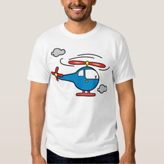 Helicopter Blue an Red T Shirt