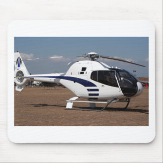 Helicopter (blue & white) mouse pad