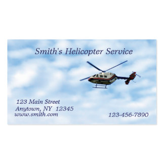 Helicopter Business Card