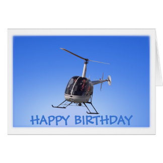 Helicopter Card Flying Chopper Greeting Cards Greeting Card