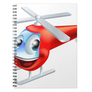 Helicopter cartoon character spiral notebook