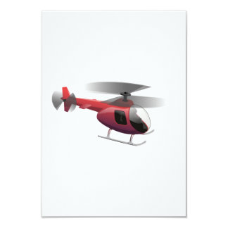 Helicopter Cartoon Custom Invitations