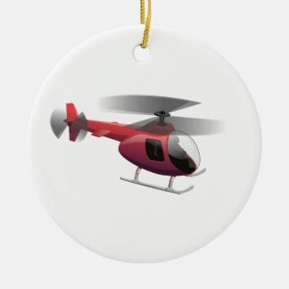 Helicopter Ceramic Ornament