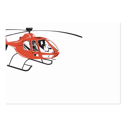 Helicopter Chopper Retro Business Card Template