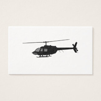 Helicopter Chopper Silhouette Customize Color Business Card