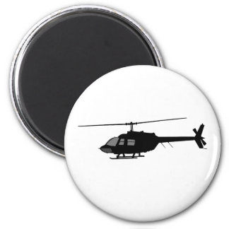 Helicopter Chopper Silhouette Customize Color Magnet