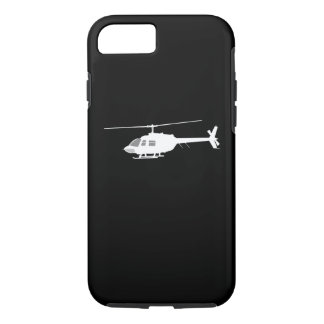 Helicopter Chopper Silhouette Flying Black iPhone 8/7 Case