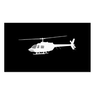 Helicopter Chopper Silhouette Flying Double-Sided Standard Business Cards (Pack Of 100)
