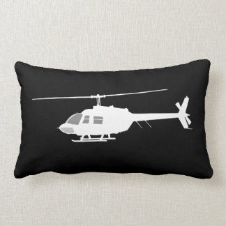 Helicopter Chopper Silhouette Flying Throw Pillows