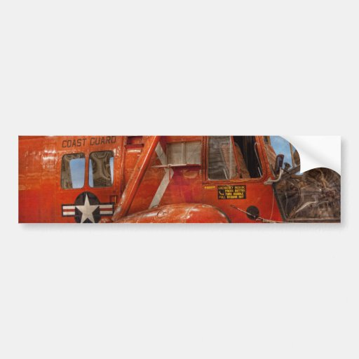 Helicopter - Coast guard helicopter Car Bumper Sticker