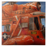 Helicopter - Coast guard helicopter Ceramic Tile