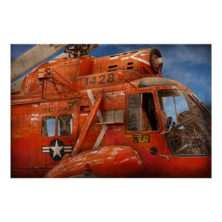 Helicopter - Coast guard helicopter Posters