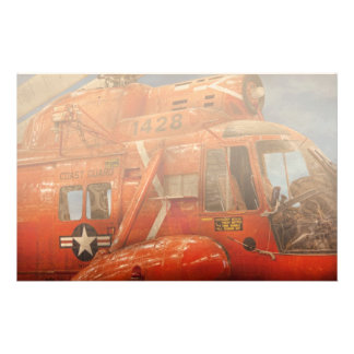 Helicopter - Coast guard helicopter Stationery Paper