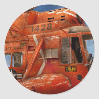 Helicopter - Coast guard helicopter Classic Round Sticker