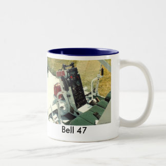 Helicopter cockpit Two-Tone coffee mug