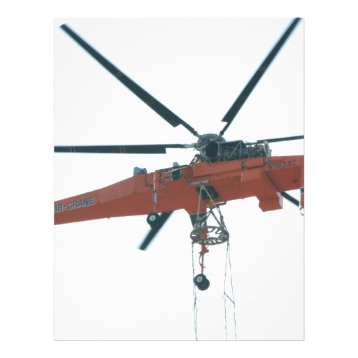 Helicopter crane letterhead template