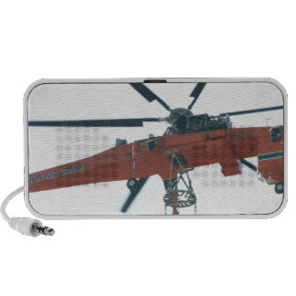 Helicopter crane laptop speakers