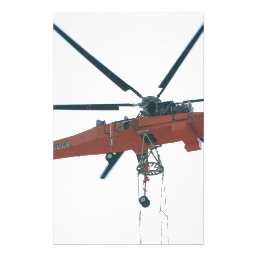 Helicopter crane stationery paper