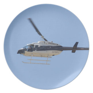 Helicopter Dinner Plate