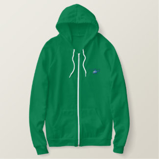 Helicopter Embroidered Hoodie