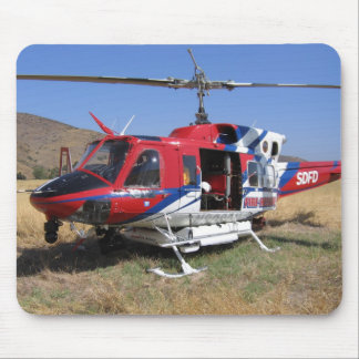 Helicopter Firefighting Mouse Pad