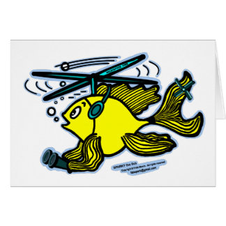 Helicopter Fish Card