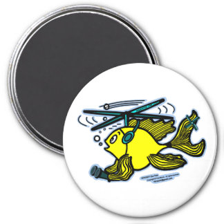 Helicopter Fish funny Magnet