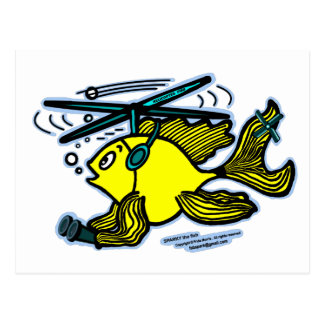 Helicopter Fish Postcard