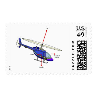 Helicopter Flight Diagram Postage