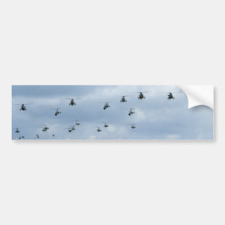 Helicopter flypast bumper stickers