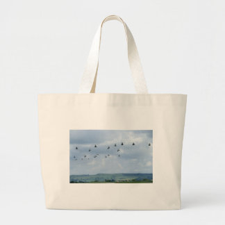 Helicopter flypast canvas bags