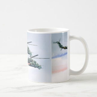 helicopter formation airshow classic white coffee mug