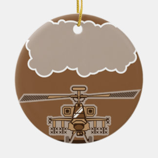 Helicopter Front Ceramic Ornament